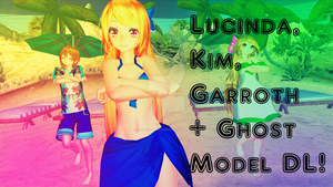 MMD Lucinda,Garroth,Kim + Ghost Starlight Model DL by KawaiiNightGamer