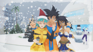 MMD - It's snowing at the capsule Corp! by CogetaCats