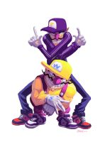 Wario and Waluigi by ArchaicEphony