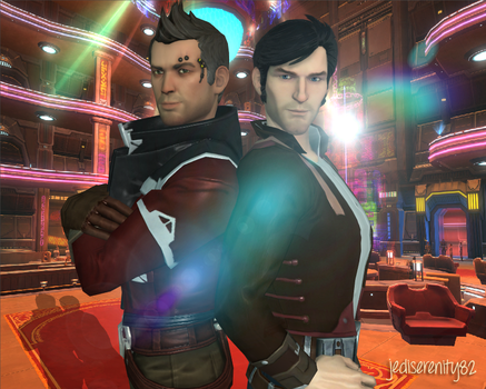 Spy Guys - Theron Shan and Jonas Balker {SWTOR} by jediserenity82