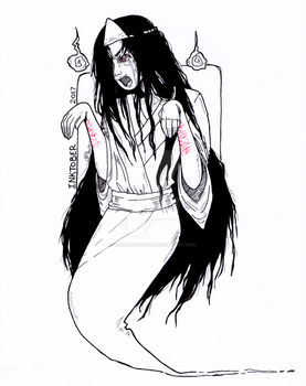Inktober Day 1: Yurei by killedmyhopes