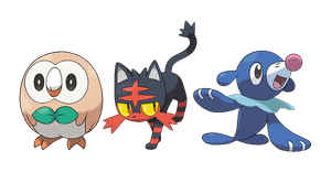 ROWLET, LITTLEN AND POPPLIO by HOBYGRENOUSSE