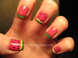 summer fruit nails by xtheungodx