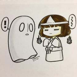 INKTOBER :: Day 27, Ghost by xmelonhippo
