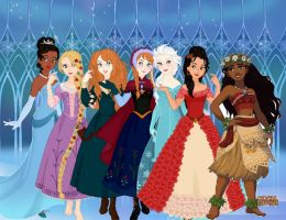 Disney Princesses Pt 2 by dcfan0590