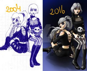 Draw this again 2004 Vs 2016 by ElsaVonNarbe