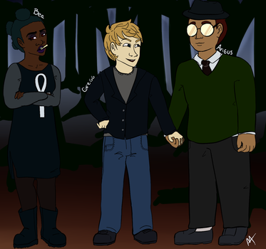 Human Night in the Woods Characters by asymmetricarcher
