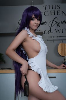 HotD - Saeko cosplay for Valentine's Day 2018 by Disharmonica