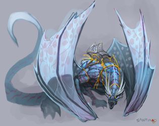 sketch- dragon by Pertheseus