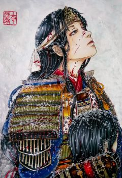 Special Art: Tomoe Gozen by Hallowie29