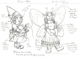 For Fairy Love - Prunella and Milis design by rachelillustrates