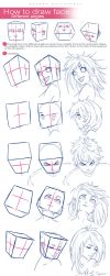 How To Draw Face - Different Angles by wysoka