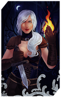 Commission: Lythrin Vervisch tarot by RedlyJester