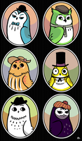 owl in the family portraits by theRast