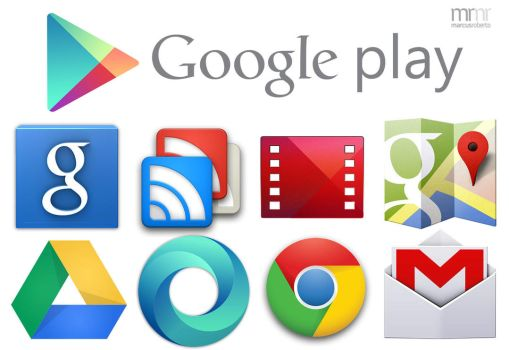 Google Play Icons by Marcus-Roberto