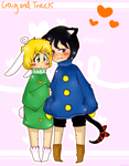 Bunny Tweek and Kitty Craig by TweekPark