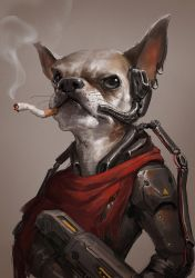 One old work for my dog by GothicQ