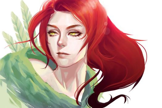 Lyralei, the Windranger (fanart) by llenchabbie