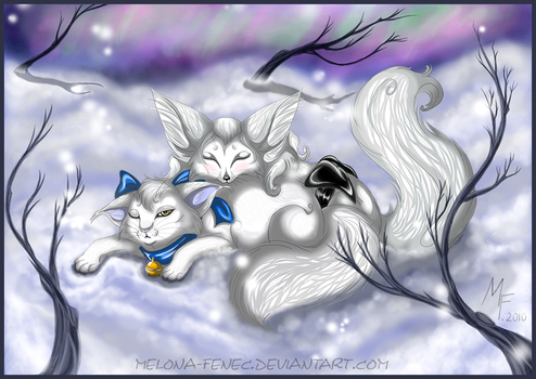 two snow friends by Melona-F