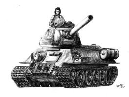 T-34-85 by CommissarKinyaf
