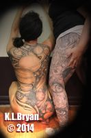 Black and gray tattooing by danktat