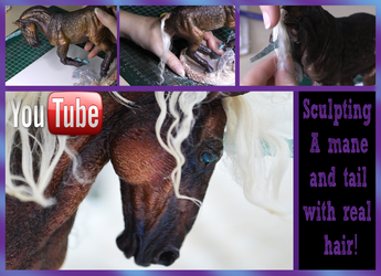 sculpting a mane and tail with real hair tut by mangakasan