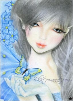 Forget Me Not Fairy by Katerina-Art
