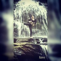 Playing in Garwin Fall by GothicRavenMidnight