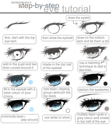 step - by - step eye + colour tutorial by Miivei