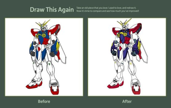 Burning Gundam revisit by XjustinsaneX