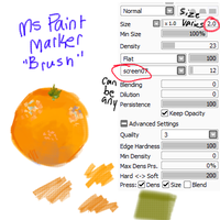 ms paint marker - brush settings by axfret