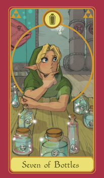 Legend of Tarot - 7 of Bottles by TheMightyPegasus