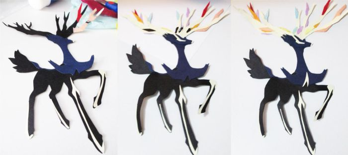 Xerneas paper doll by jblexery