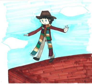 walking brick wall by Owlhatnest