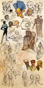 Young Justice Sketch Blitz 3 by dou-hong