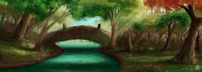 Forest Bridge by Spacepretzel