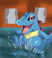 --PKMN-- Totodile Water Dance by pdutogepi
