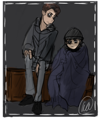 Deviant!Connor and Alive!Cole (3) by LadyRWidow