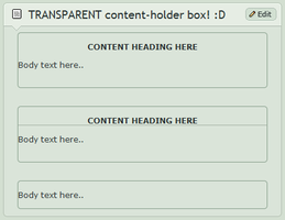TRANSPARENT content-holder box by CypherVisor