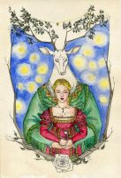 The Lady and the White Stag by Kitty-Grimm