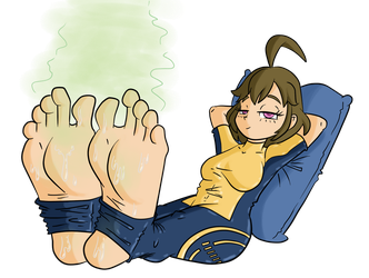 Mechanica's Tired Sweaty Feet by superdes513