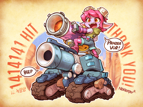 Riot Girl Tristana and Blizzcon Bastion by Nestkeeper