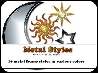 Metal Styles for Photoshop CS2 by ArdathkSheyna