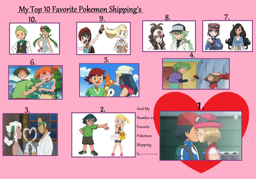 My Top 10 Favourite Pokemon Shippings by WillDynamo55
