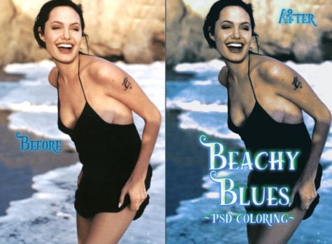 Beachy Blues PSD Coloring-Sample by AkirahVampyre