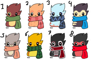 Scarfblobs adopts 30 each by Manateacup