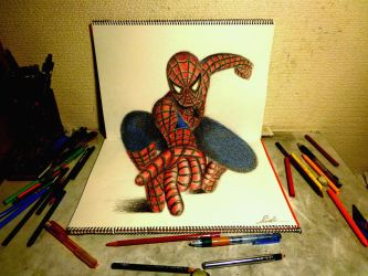 3D Drawing - The Amazing Spider-man2 by NAGAIHIDEYUKI