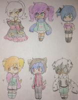 Cute girls and boys adopts (CLOSED!) by Bottle-Of-Stars