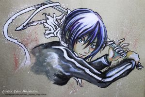 Sketch color Yato and Sekki- Fanart Noragami by CrisEsHer