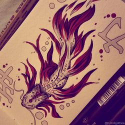 Doodle - Koi of Strength by hybridgothica